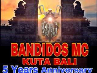 BANDIDOS MC KUTA BALI CHAPTER, 5 YEARS ANNIVERSARY