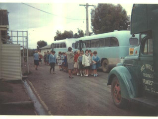 Arriving at Somers School Camp in the 1960's