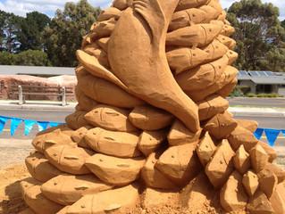 Sand Sculpture at Somers Samp