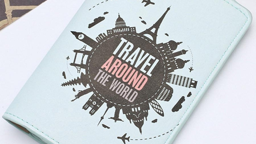 Travel Passport Cover Card Case