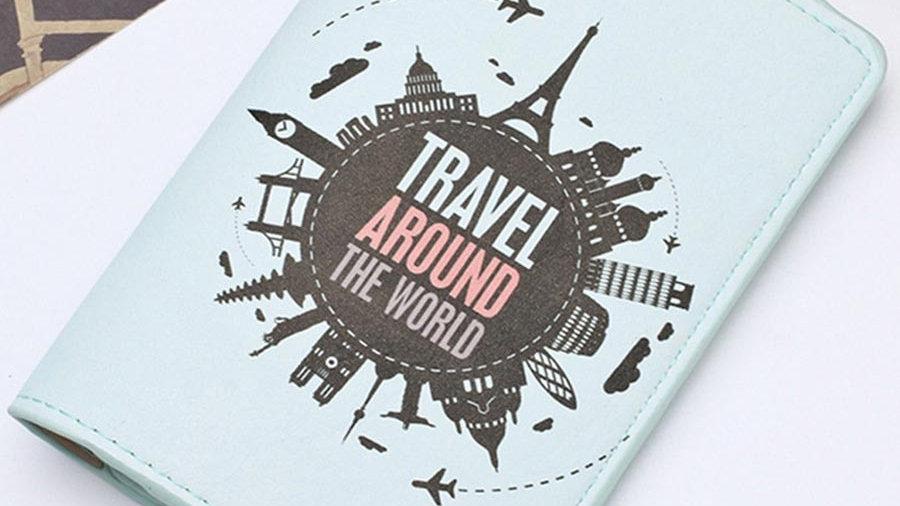 Travel Passport Cover Card Case