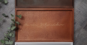 Holzbox zur Übergabe der Hochzeitsfotos