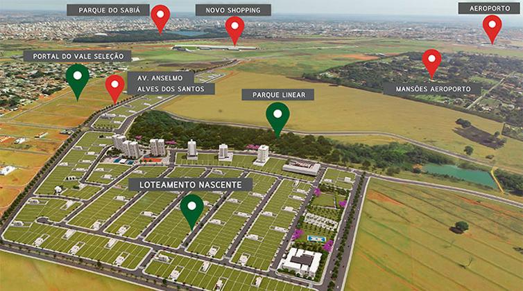 Portal do Vale Bairro Planejado Nascente Loteamento Localização