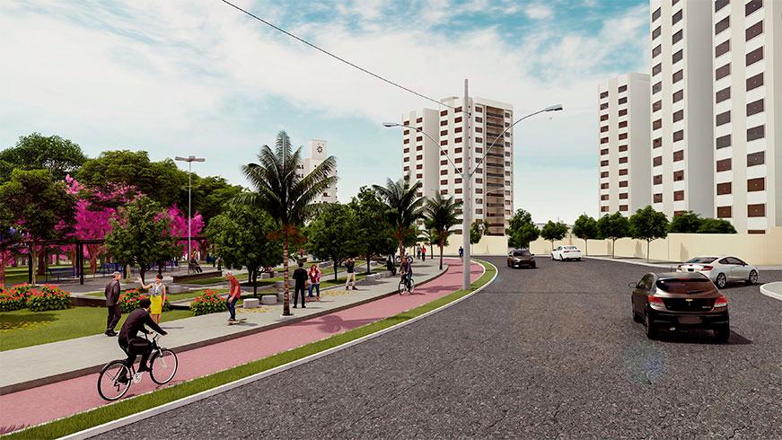 Bairro Portal do Vale Bairro Planejado em Uberlândia WV empreedimentos - bicicleta