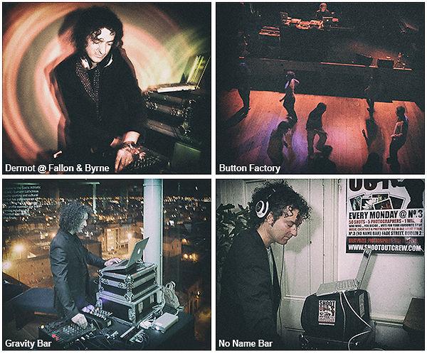 Velvet DJs, DJ Dermot Kelly, playing live at Dublin wedding venue Fallon & Byrne, Button Factory and Gravity Bar
