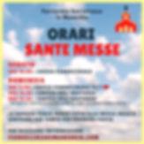 Orari Sante Messe Festive