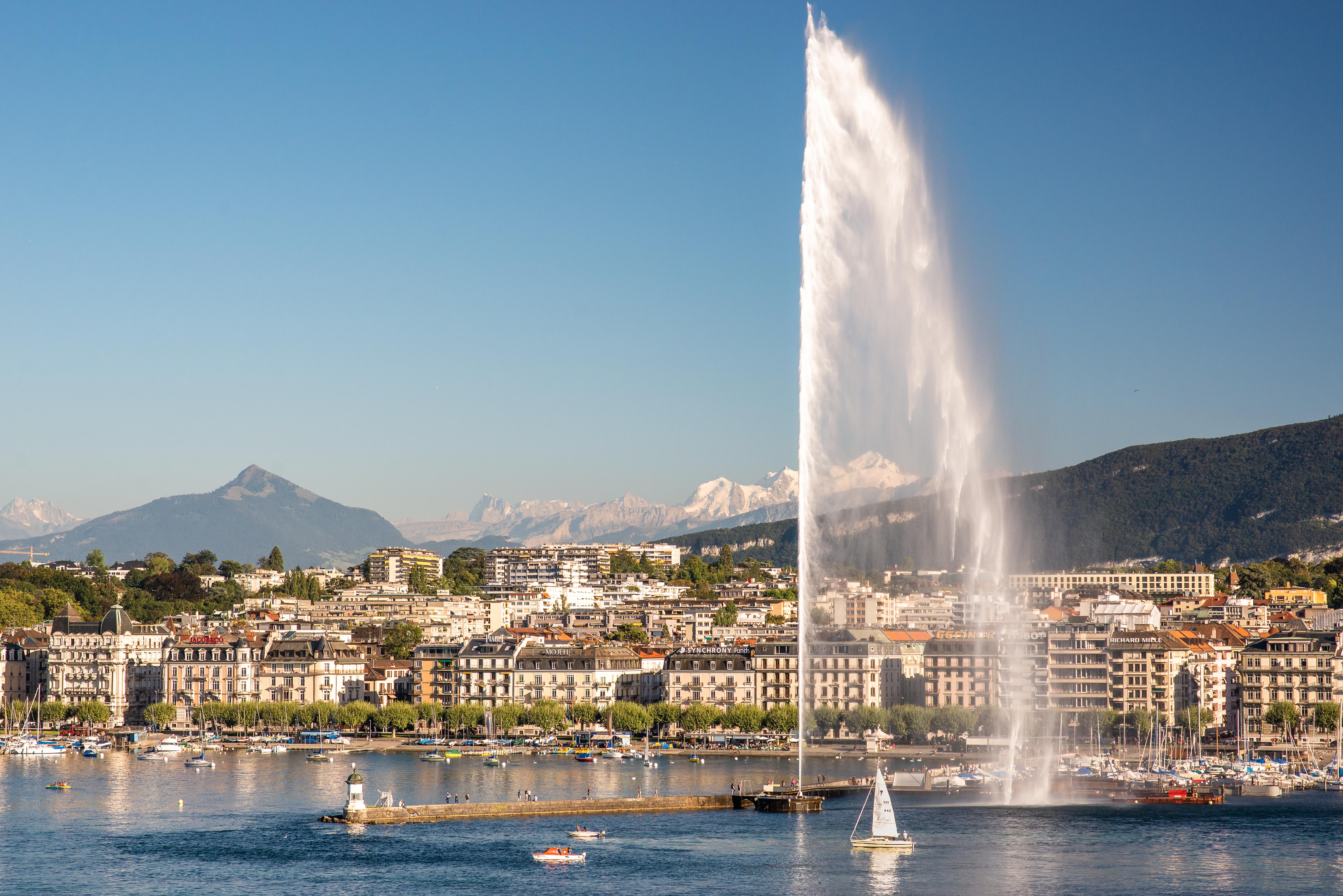 jet d'eau _ Mont-blanc