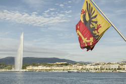 Jet d'Eau - Geneva Flag