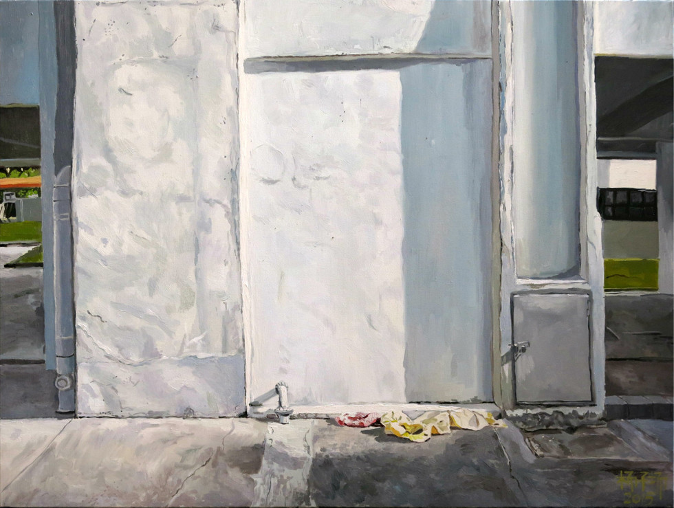 Laundry, 2015, Oil on canvas, 122 x 92 cm, SOLD  Private Collection, Singapore