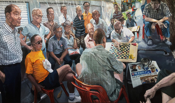 Serious Business, 2018, Oil on canvas, 152 x 260cm (Commission)  Private Collection, Singapore