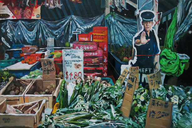 Tied Up, 2017, Oil on canvas 51 x 76cm  Private Collection, Singapore