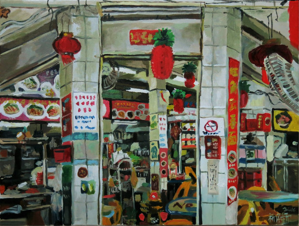 Study for Shop Front, 2016, Oil on canvas, 61 x 46cm  Private Collection, Singapore/Australia