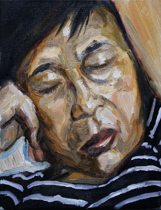 Mummy, 2012, Oil on Canvas, 15 x 20 cm, Artist's Personal Collection