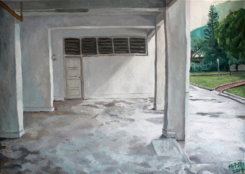 Void Deck, 2014, Oil on canvas, 84 x 59.5cm  Private Collection, Singapore