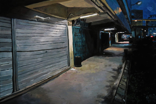 Walkway, 2016, Oil on canvas, 61 x 91cm  Private Collection, Singapore