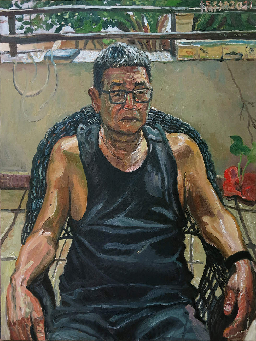 Dad, 2021, Oil on canvas, 102 x 76cm, Artist's Personal Collection