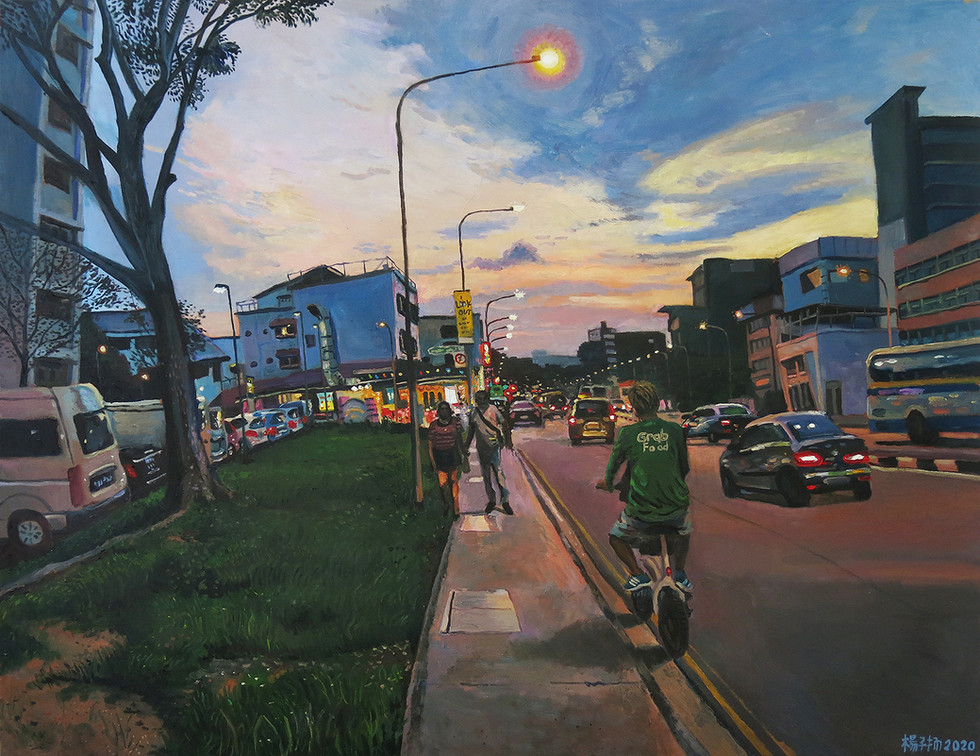 Last Delivery For The Day, 2020, Oil on canvas, 105 x 135cm  Private Collection, Singapore
