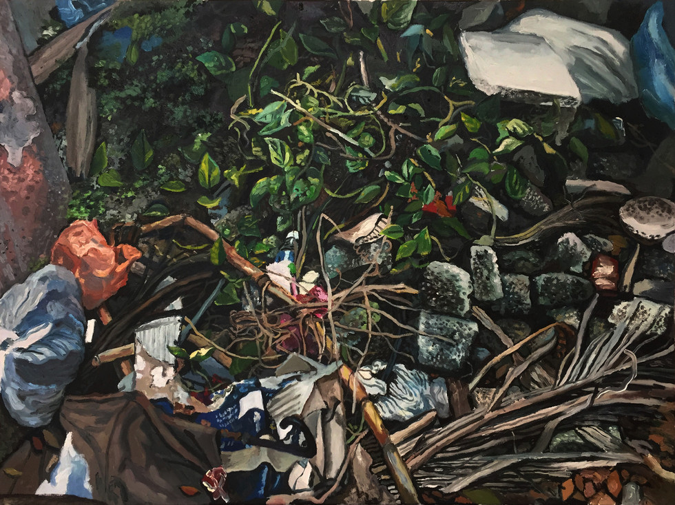 Trash, 2017, Oil on canvas, 76 x 102 cm  Private Collection, Singapore