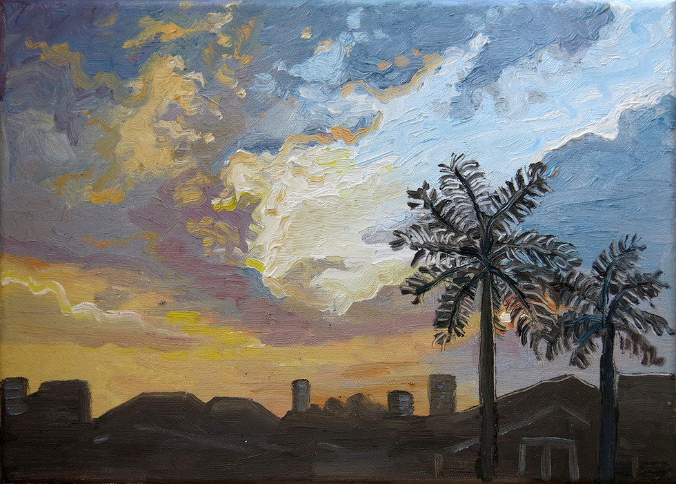 Study of A Sunset, 2020, Oil on canvas, 25.5 x 35.6cm  Private Collection, Singapore
