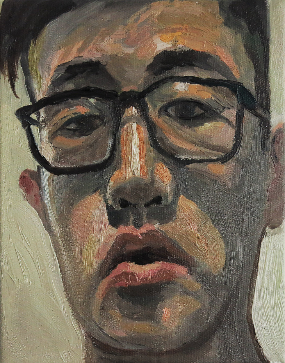 Self Portrait, 2017, Oil on canvas, 15 x 20cm  Private Collection, Singapore