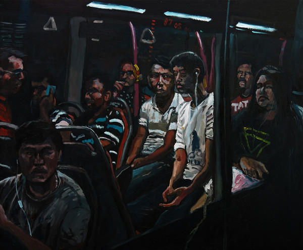 Passengers, 2016, Oil on canvas, 50.5 x 61 cm  Private collection, Malaysia
