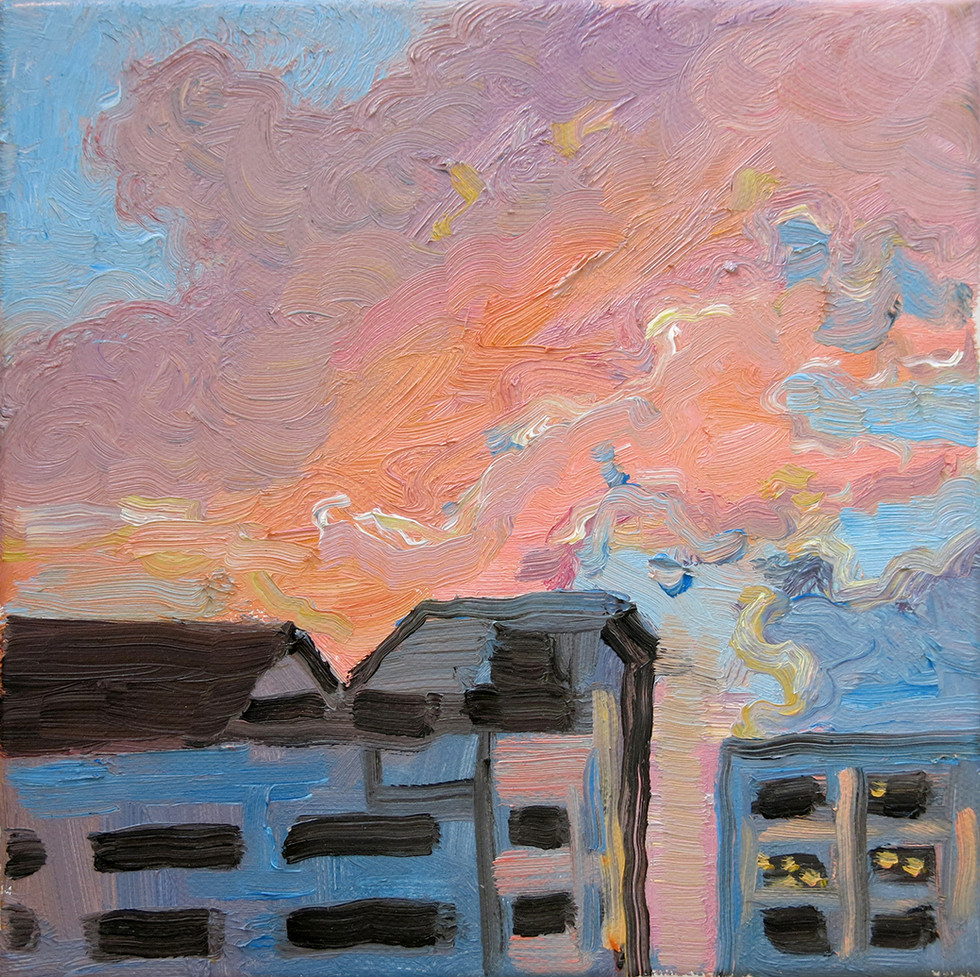 Study of Pink Clouds, 2020, Oil on canvas, 20 x 20cm  Private Collection, Singapore/Australia