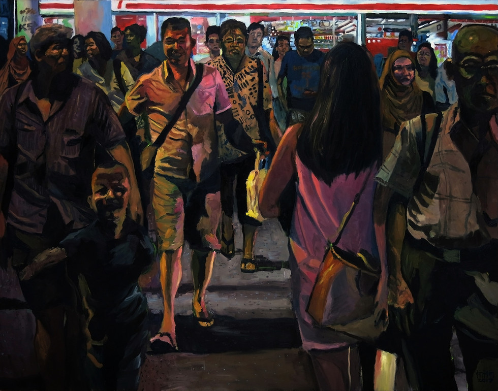 Getting Back, 2017, Oil on canvas, 122 x 152 cm  Private Collection, Singapore