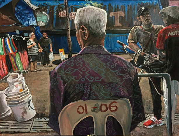01-06, 2018, Oil on canvas, 76 x 102cm  Private Collection, Singapore