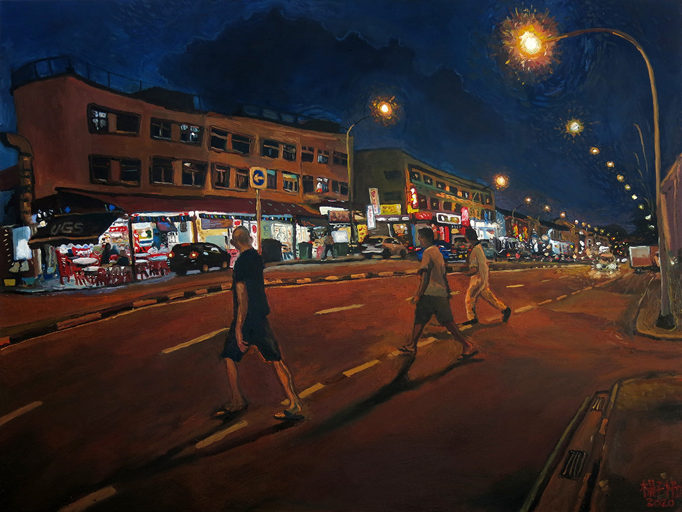 Crossing The Road, 2020, Oil on canvas, 92 x 122cm  Private Collection, Singapore