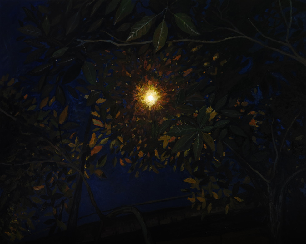 Street Lamp, 2017, Oil on canvas, 122 x 152 cm