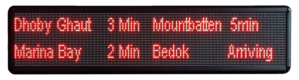 Eventuality, 2021, LED signboard in acrylic casing, 20 x 100 x 5cm