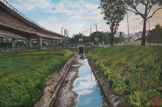 Long Kang, 2014, Oil on canvas, 92 x 61 cm  Private Collection, Singapore