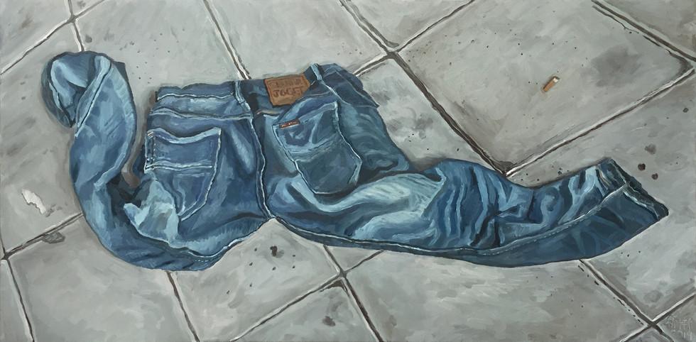 Seluar Joget (Dancing Pants), 2019, Oil on canvas, 60 x 120cm
