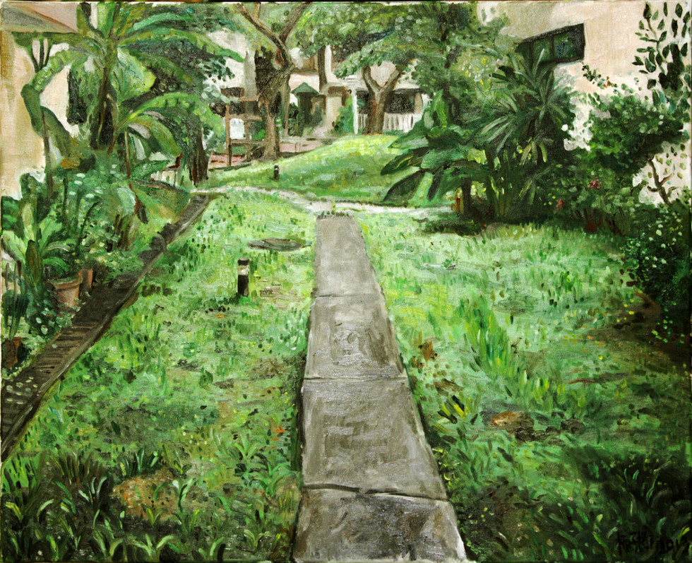 The Path Out, 2013, Oil on canvas, 76x60.5cm  Private Collection, Singapore