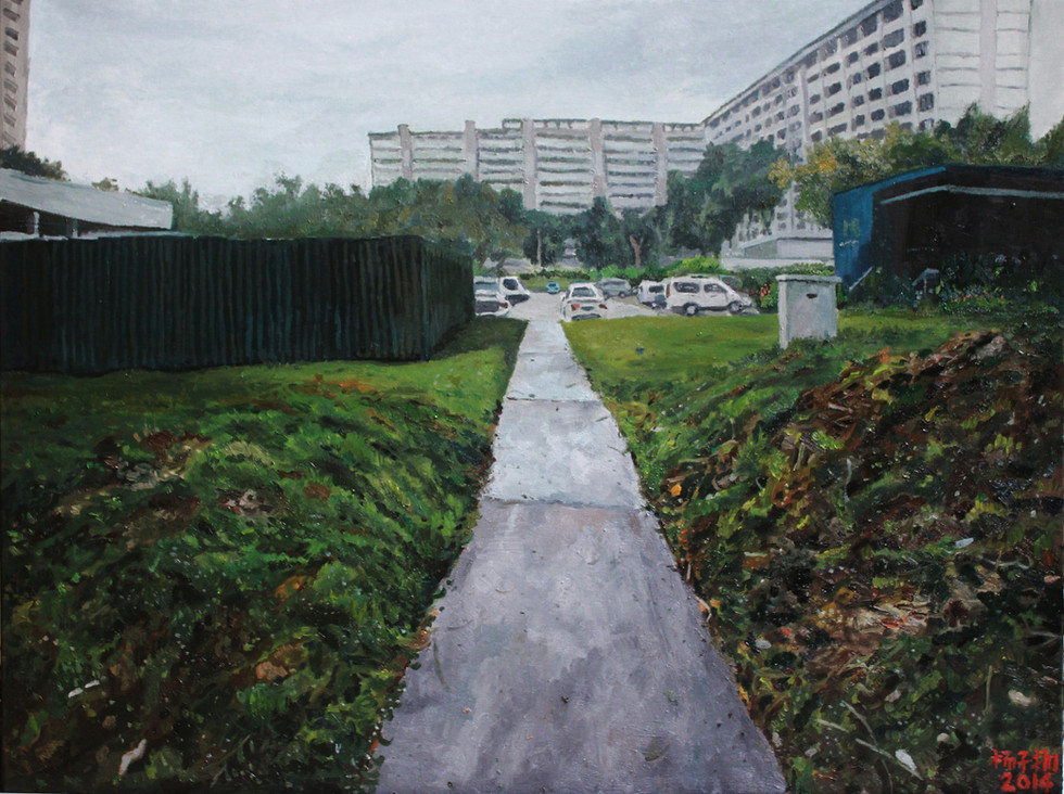 Morning Walk, 2014, Oil on canvas, 122 x 92 cm  Private Collection, Singapore