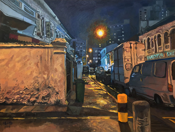 After the Evening Rain, 2019, Oil on canvas, 90 x 120cm  Private Collection, Singapore