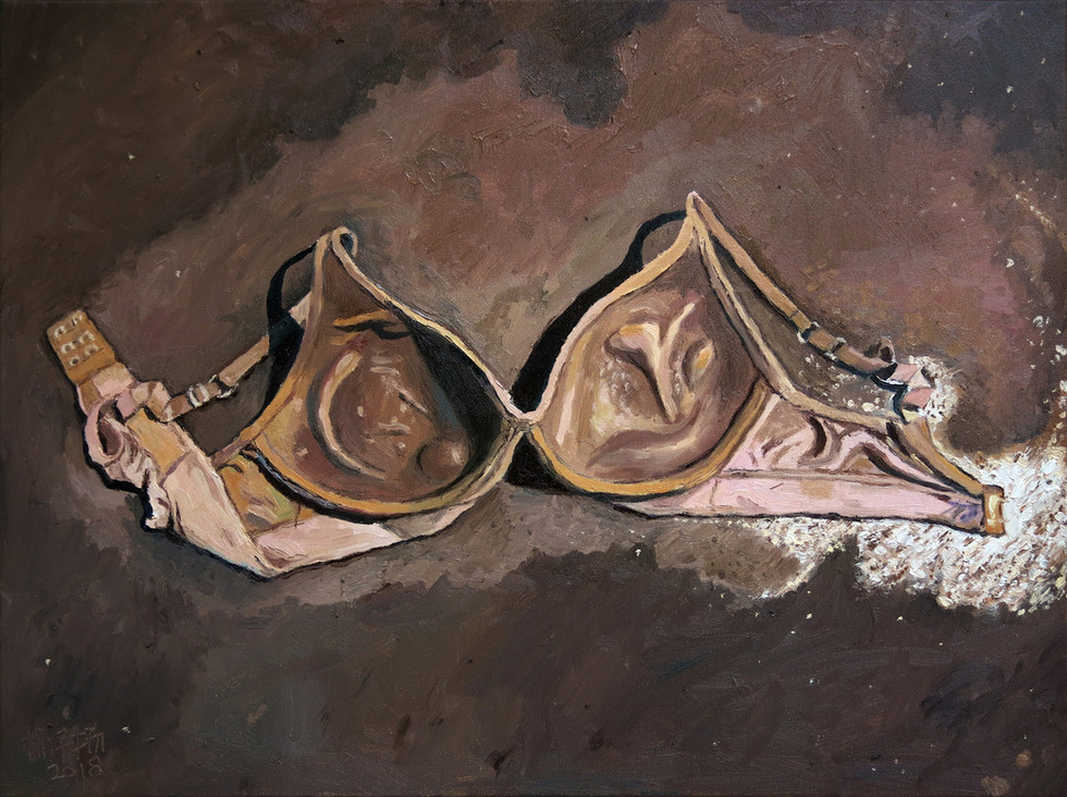 Fallen Angel, 2018, Oil on canvas, 45.5 x 61 cm