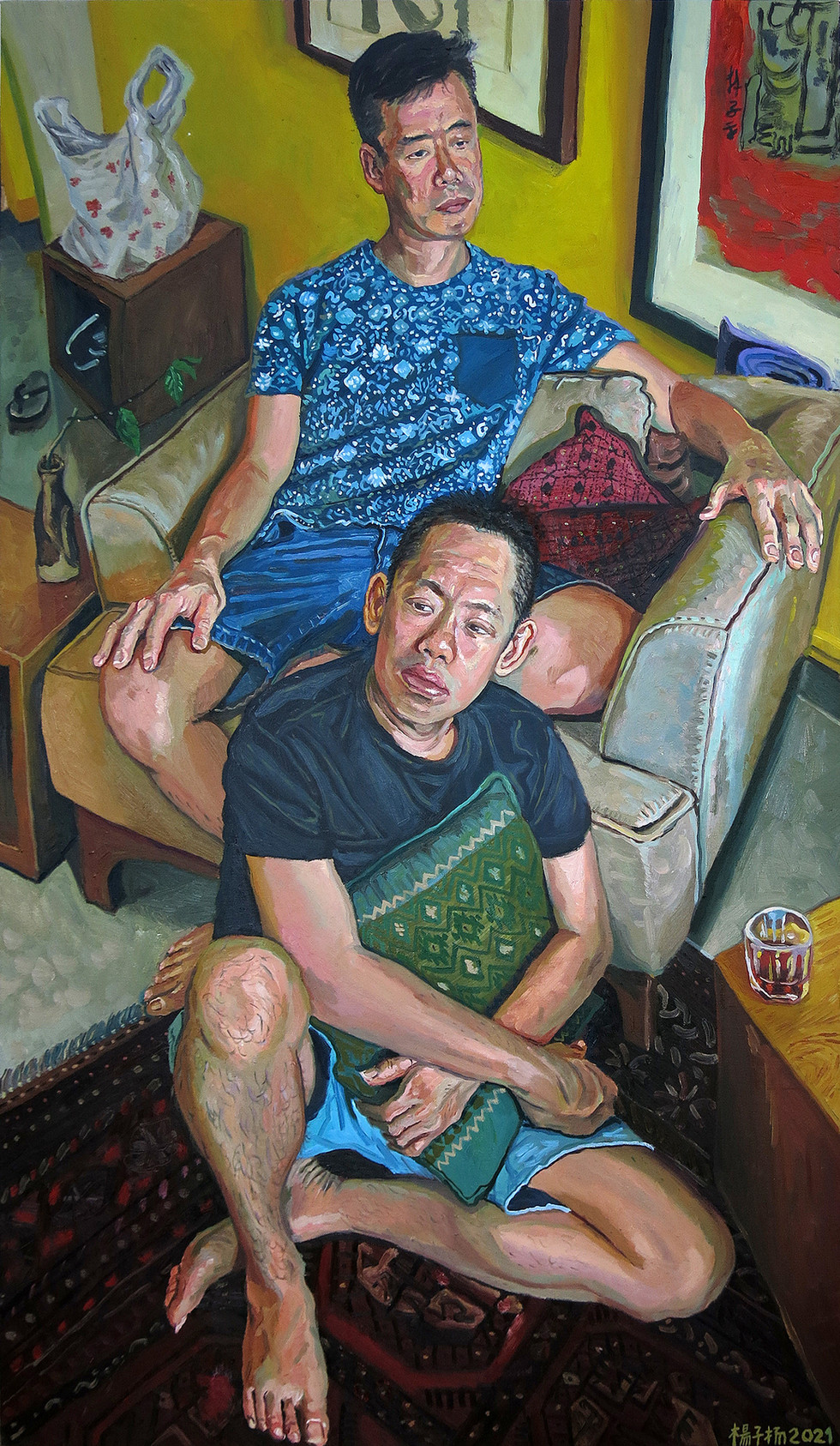 Afternoon At Home, 2021, Oil on canvas, 160 x 93cm (Commission)  Private Collection, Singapore