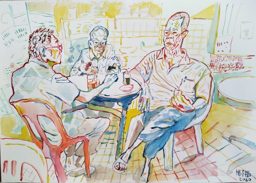 Coffee and Toast, 2020, Watercolour on paper, 42cm x 59.4cm (Reserved)