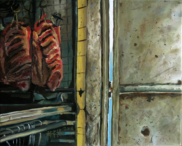 Back Door, 2016, Oil on canvas, 40.5 x 51cm  Private Collection, Singapore