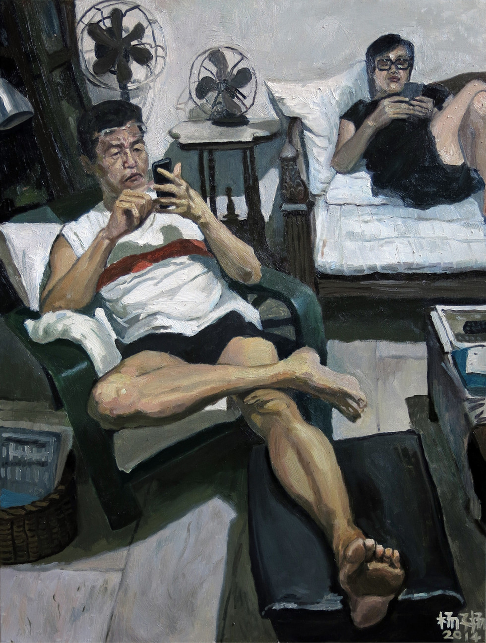 Daddy and Mummy, 2014, Oil on canvas, 101 x 76.3cm  Artist personal collection