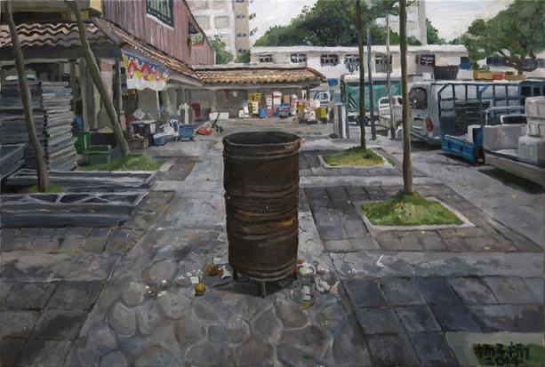 七月 (Seventh Month), 2014, Oil on canvas, 92 x 61cm  Private Collection, Singapore