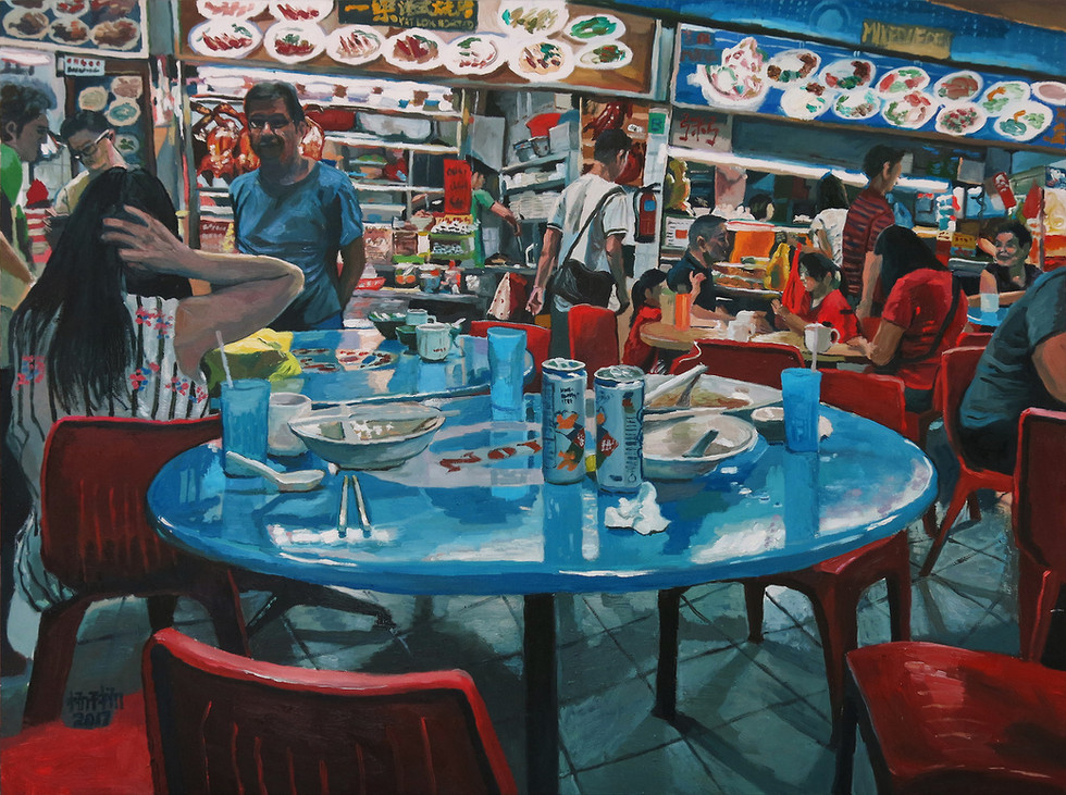 After Breakfast, 2017, Oil on canvas, 92 x 122cm  Private Collection, Singapore