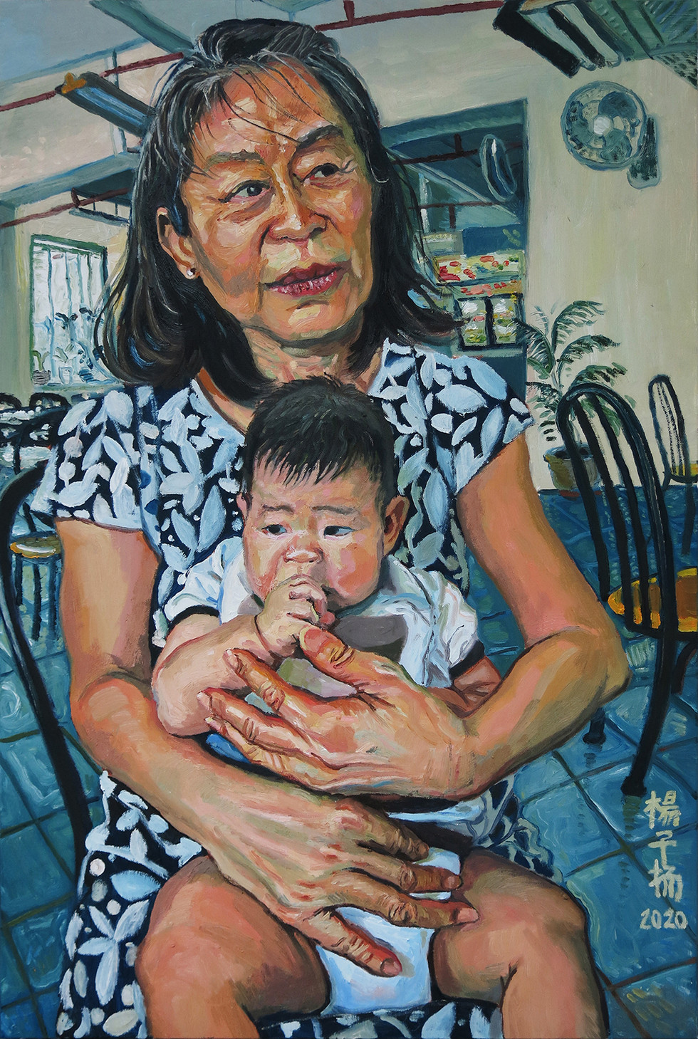 G with G, 2020, Oil on canvas, 91 x 61cm (Commission)  Private Collection, Singapore.