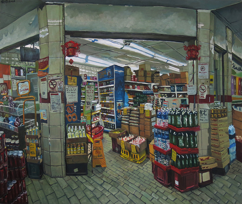 Grocery Shop, 2020, Oil on canvas, 150 x 180cm  Private Collection, Singapore