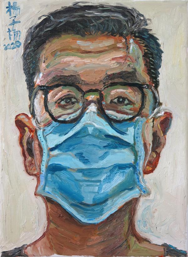 Self Portrait 2020, Oil on canvas, 35.5 x 26cm   Private Collection, Singapore