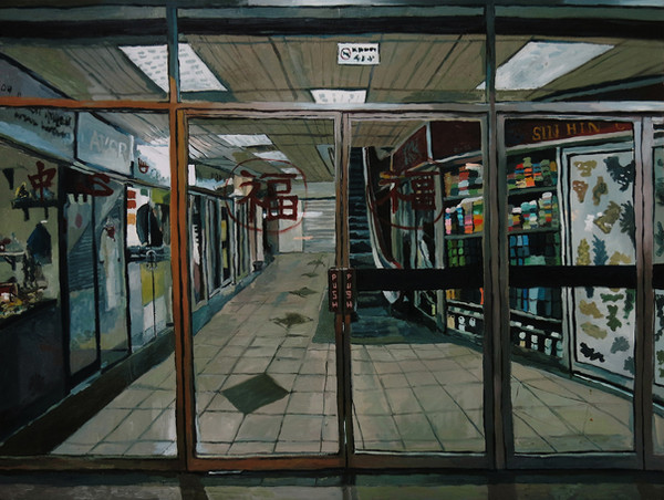 Closed, 2016, Oil on canvas, 92 x 122 cm  Private Collection, Singapore