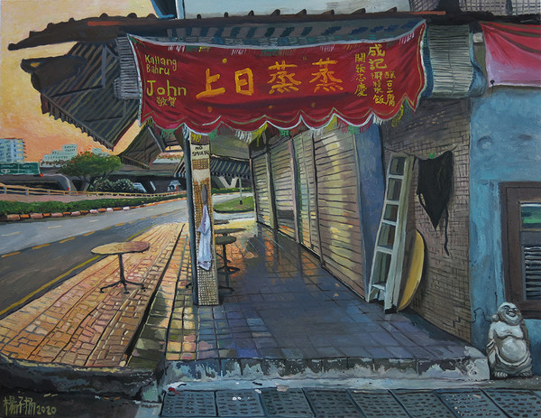 Orange Sky (蒸蒸日上 / Up, Up and Away), 2020, Oil on canvas, 105 x 135cm  Private Collection, Singapore
