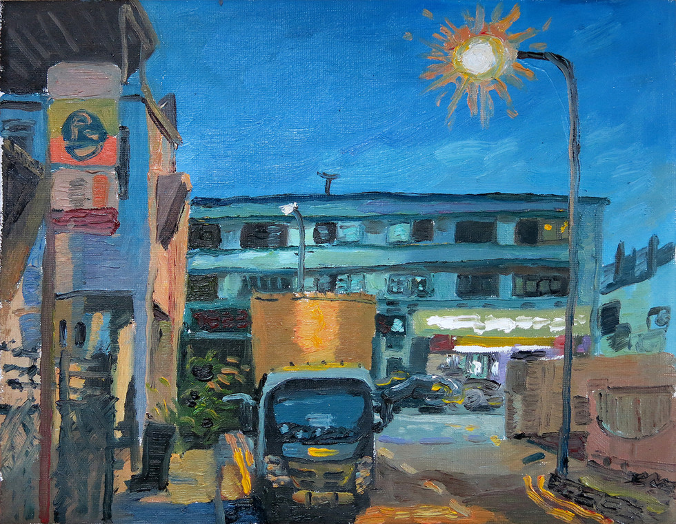Study of Evening Light, 2020, Oil on canvas, 25 x 29cm  Private Collection, Singapore