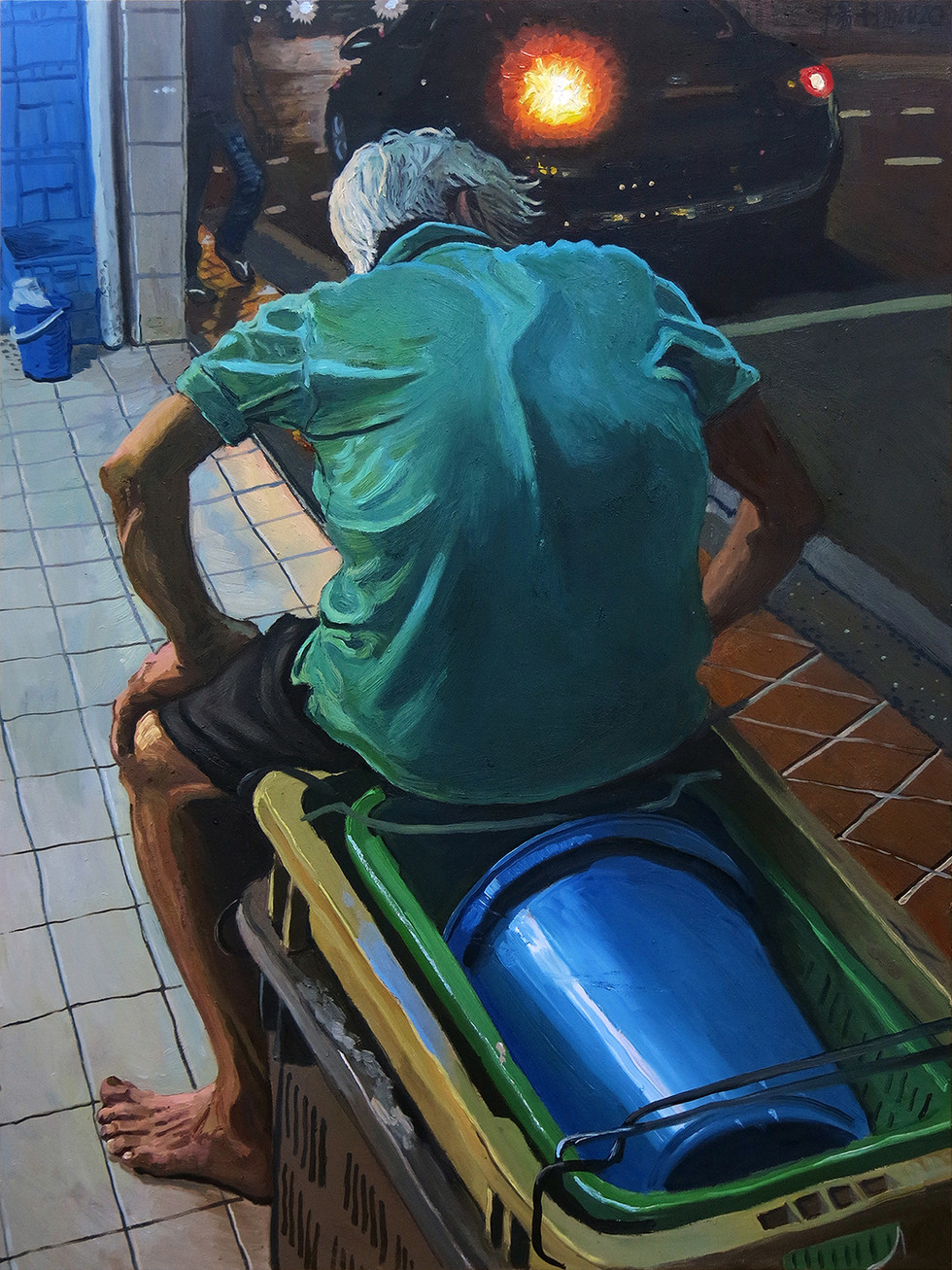 Back of a Man, 2020, Oil on canvas, 102 x 76cm  Private Collection, Singapore